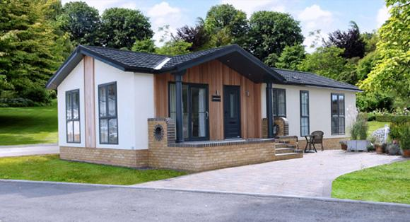 Residential park home in Ruthin, North Wales. Retirement community - The Woodlands. The Addington home.