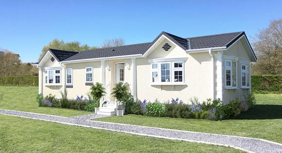 Residential park home in Ruthin, North Wales. Retirement community - The Woodlands. The Middleton home.