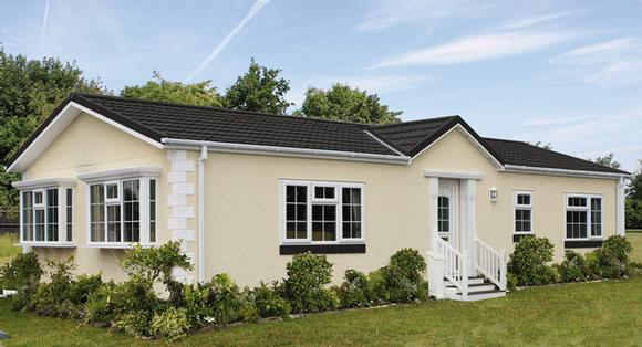 Residential park home in Ruthin, North Wales. Retirement community - The Woodlands. The Regency home.