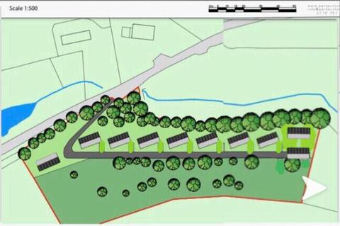 Residential park home in Ruthin, North Wales. The Woodlands retirement community site plan.